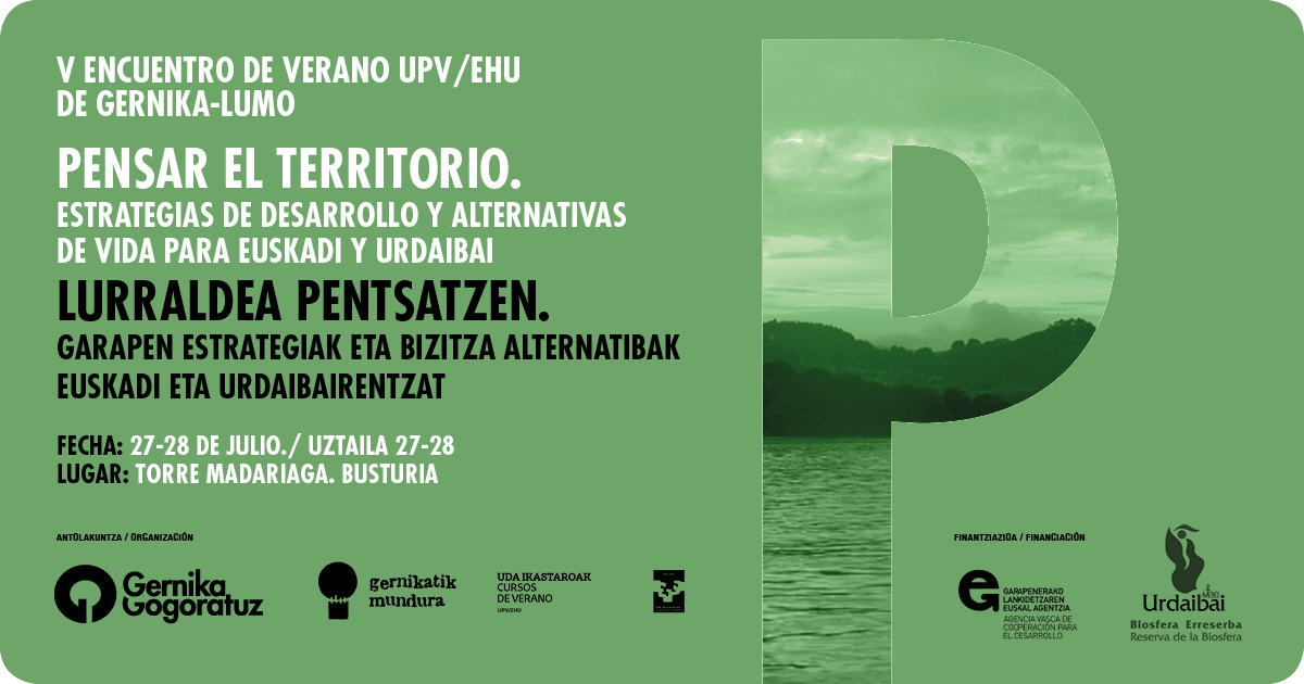Gernika Gogoratuz. Encuentro de verano upv/ehu