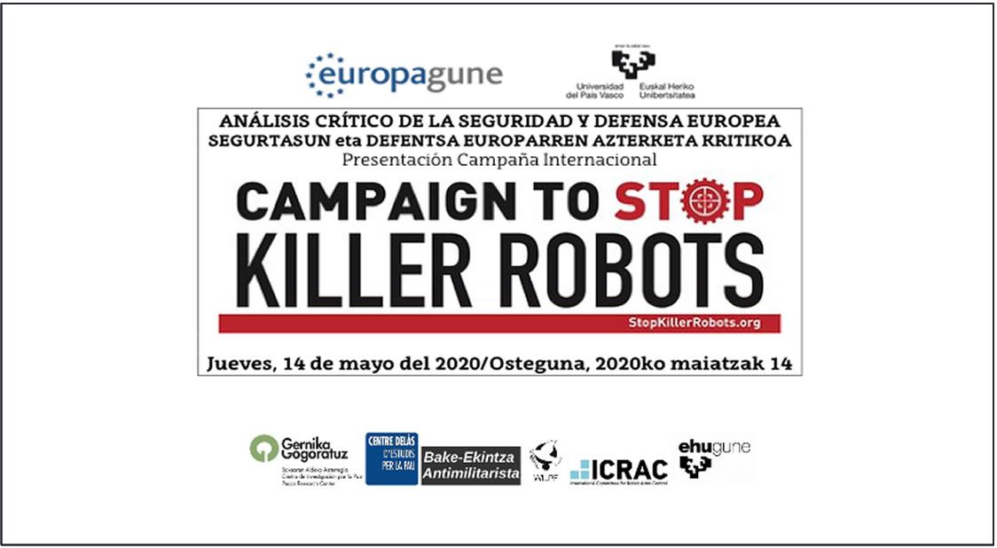 campaña de stop killer robots en la UPV/EHU