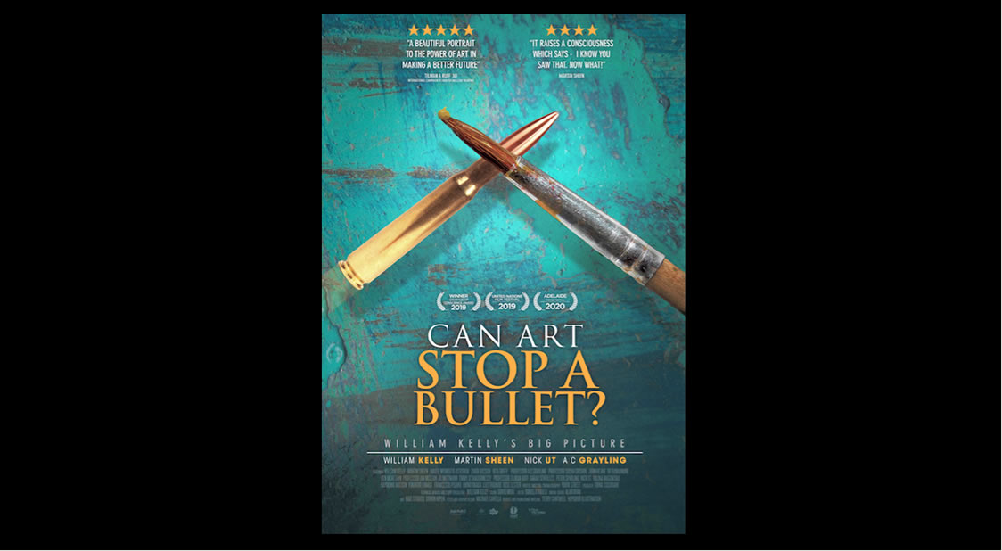 "Documental sobre Paz ""Can Art Stop a Bullet? William Kelly's Big Picture"""
