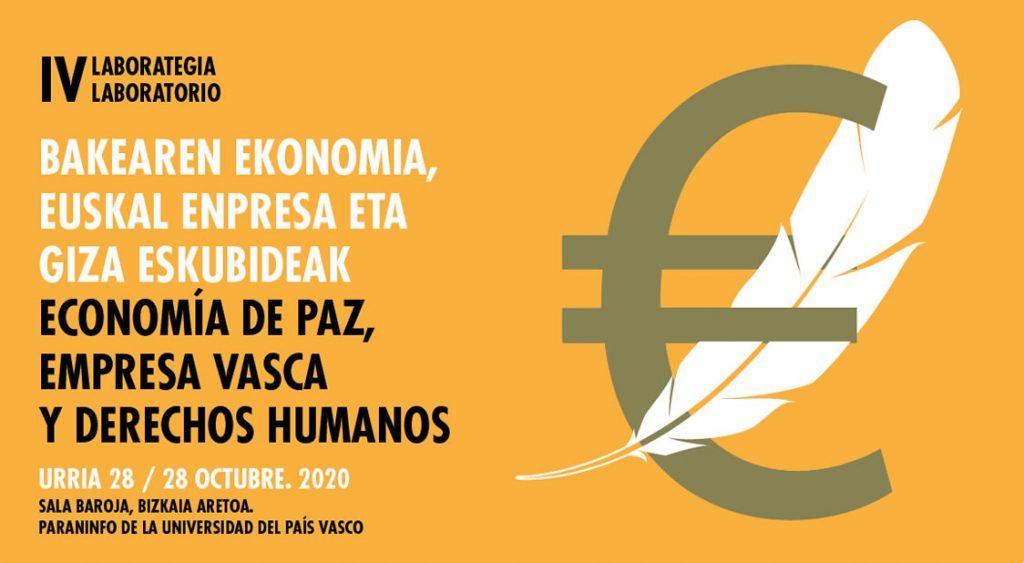 IV edición del Laboratorio de Economía de Paz, Empresa Vasca y Derechos Humanos