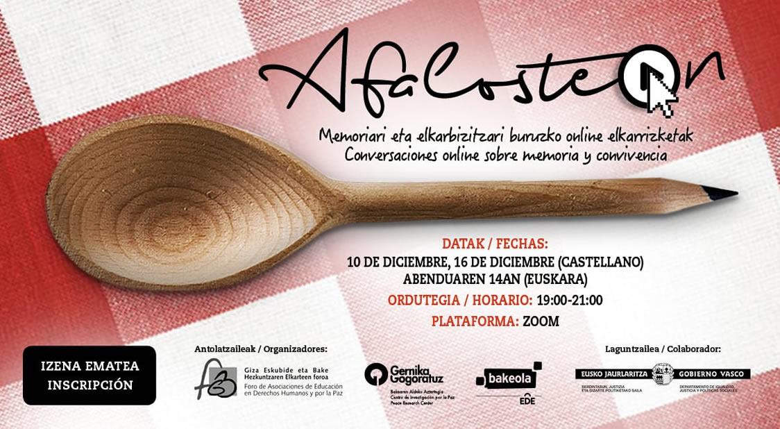 """Afaloste-on 2020 """"Conversaciones sobre Memoria y Convivencia"""""""