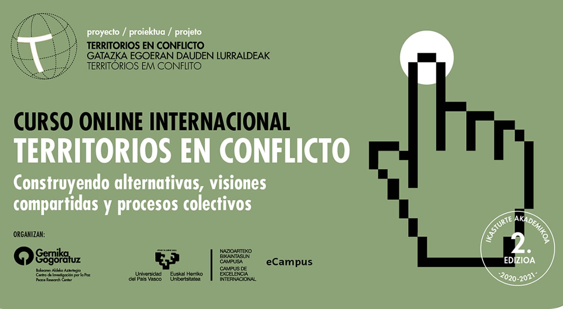2ª edición del curso online internacional Territorios en Conflicto con el título Construyendo alternativas, visiones compartidas y procesos colectivos