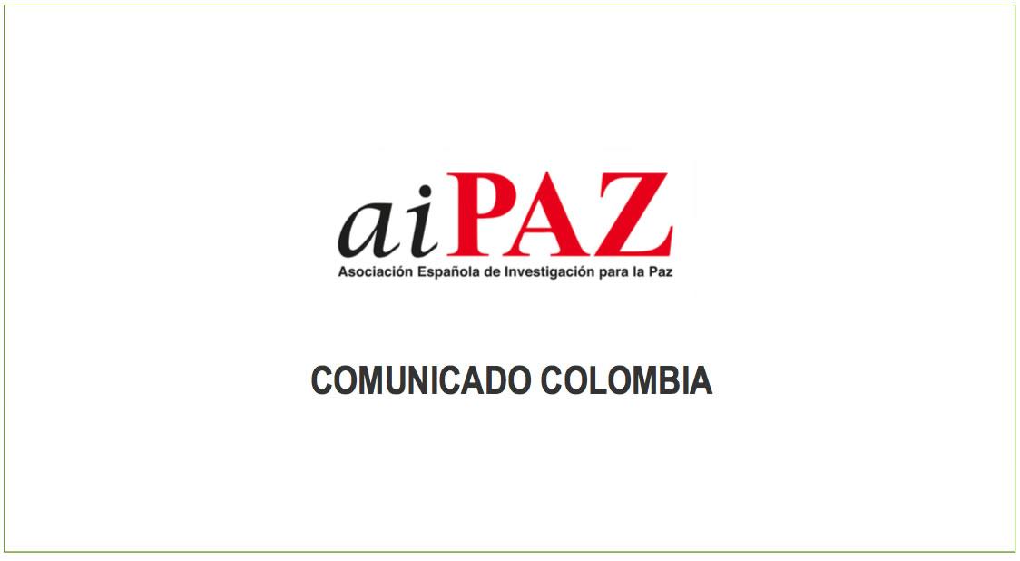 Gernika Gogoratuz se suma al llamamiento internacional para la garantía de Derechos en Colombia
